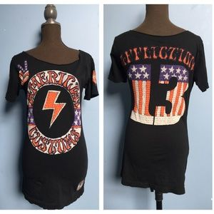 Affliction American Customs Beaded Tee